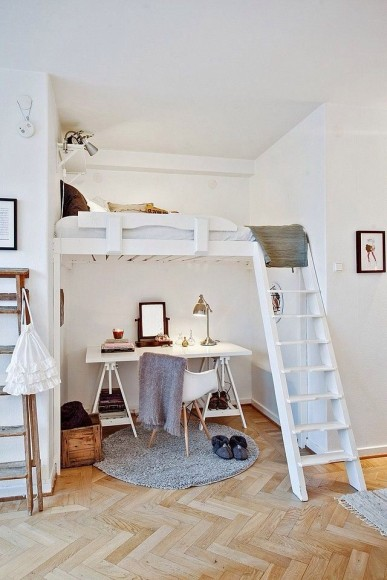 Lit superposé pour petits espaces