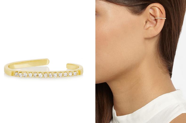 Bijou d'oreille en or 18 carats et diamants, Maria Black Fine Jewelry