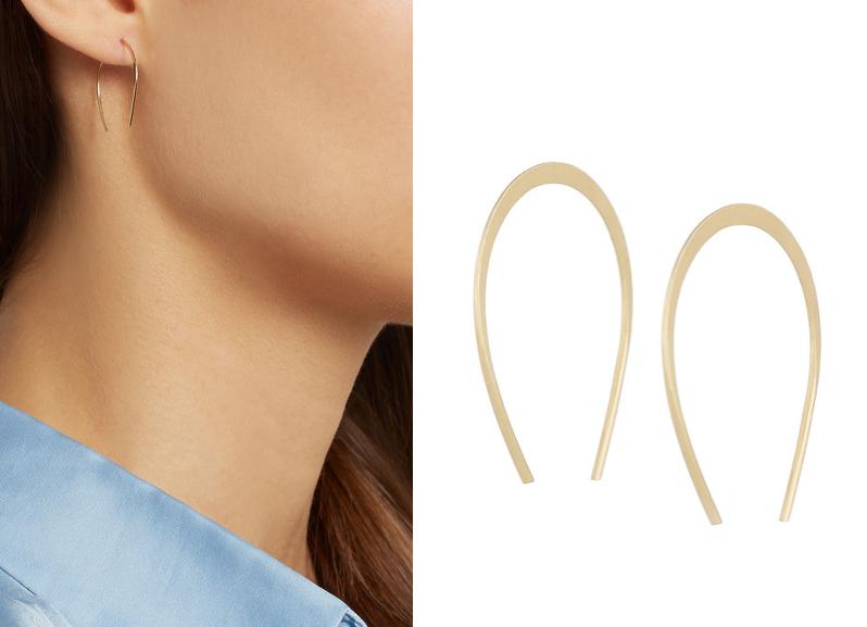 Boucles d'oreilles fer à cheval en or 14 carats, Melissa Joy Manning