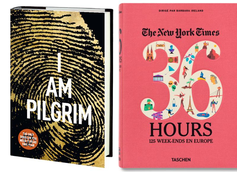 3. Je suis Pilgrim, Terry Hayes, JC Lattès. 4. 36 Hours, 125 week-ends en Europe, en Français aux éditions Taschen, 29,99€.