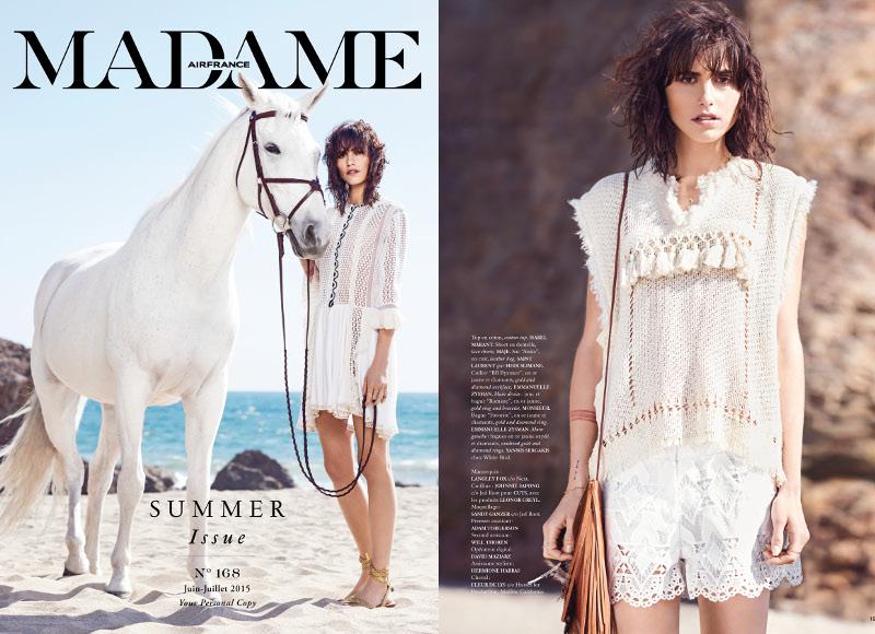 Air France Madame, juin-juillet 2015. Stylisme : France de Jerphanion