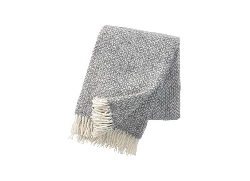 3. Plaid en laine d'agneau gris, Klippan