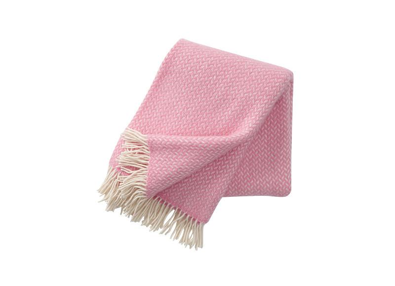 3. Plaid en laine d'agneau rose, Klippan
