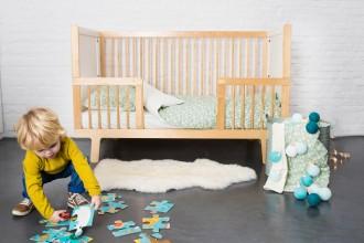 Parure de lit bébé Balloon turquoise, Trixie Baby