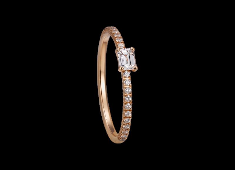 Bague Étincelle, en or rose et diamants, Cartier