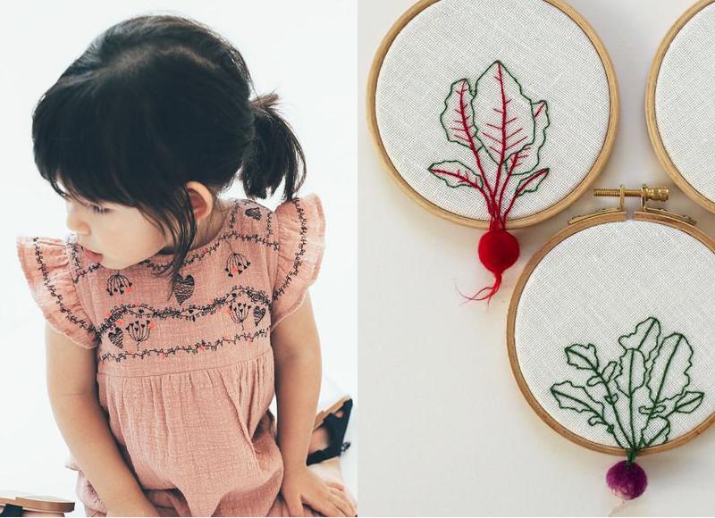Des broderies pour personnaliser les vêtements pour enfant