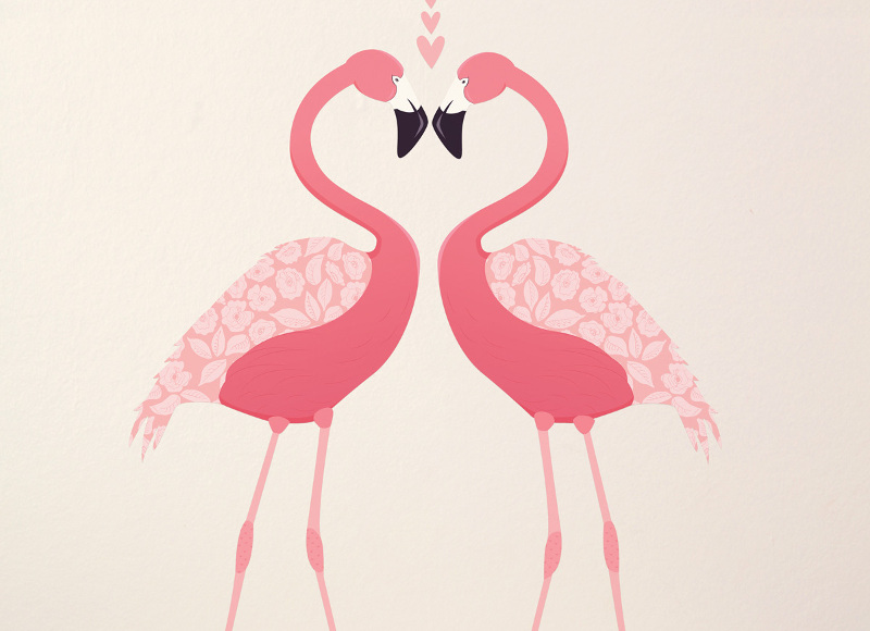 1. Stickers muraux Flamants Roses, Love Maé, 39, 95 euros