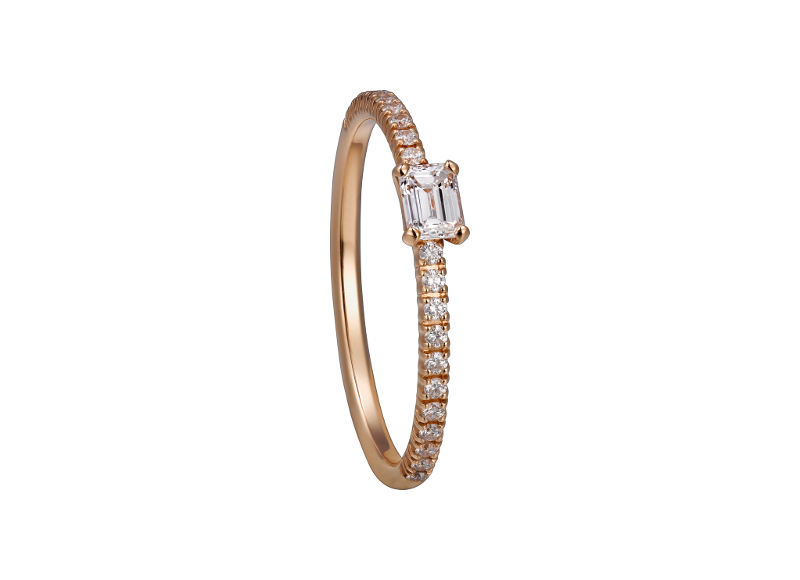 Bague Étincelle, en or rose et diamants, Cartier