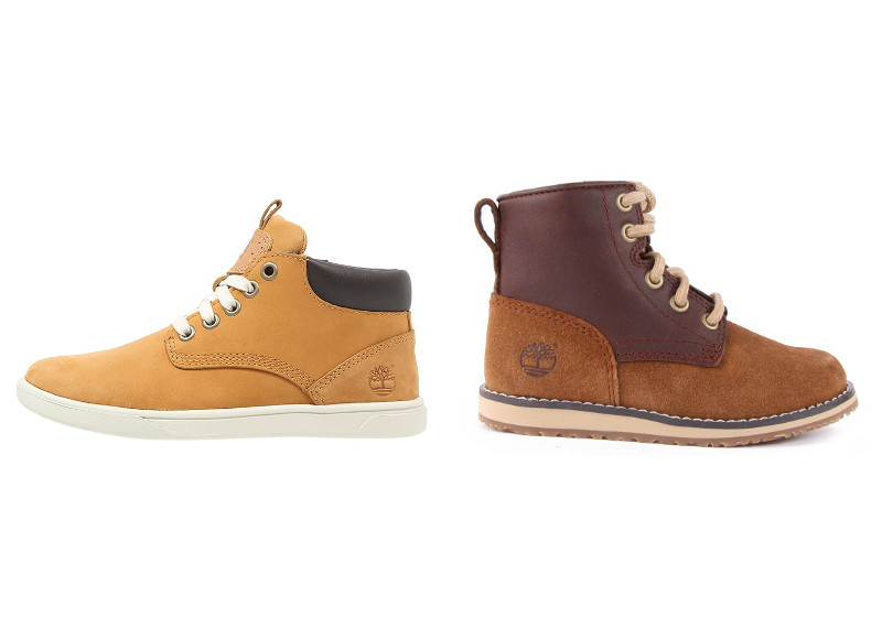 5-Baskets montantes Timberland 6- Boots Timberland